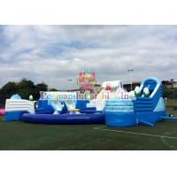 Buy cheap Outdoor 18M Inflatable Water Park Pool Slide Flire Retardant For Kids from wholesalers
