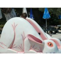 Buy cheap White / Pink Children Rabbit Home Water Slides For Aqua Park from wholesalers