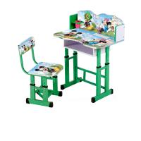 Buy cheap India Cheap height adjustable Colorful Cartoon Picture kids study desk from wholesalers