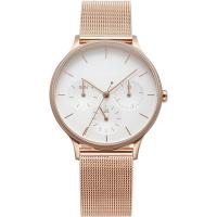 Buy cheap 39mm Rose Gold Wristwatch Stainless Steel Back Gold Chain Watch For Ladies from wholesalers