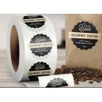 Buy cheap Custom Logo Self Adhesive Labels , Custom Roll Label Stickers For Food Coffee Package from wholesalers