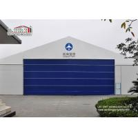 Buy cheap 30x50m Aluminum Frame Helicopter Hangar Tent With Flexible PVC Roller Shutter from wholesalers