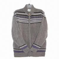 Buy cheap Men's Cardigan with Pattern in Body and Hem from wholesalers