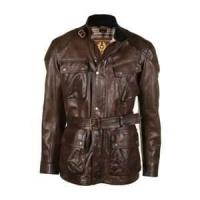 Buy cheap black, brown Cowhide Waterproof Windproof Mens genuine imitation leather coat from wholesalers