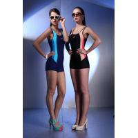 Buy cheap Large Size Endurance Black Sport Female Swimming Costume For Large Ladies from wholesalers