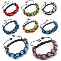 Buy cheap shamballa bracelet 10*10mm Crystal bead bracelet SA018 from wholesalers