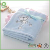 Buy cheap Fashion Animal Embroidery Super Soft Blue Flannel Baby Blanket from wholesalers