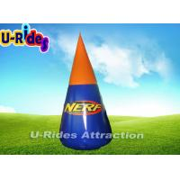 Buy cheap 2 Meter Height Air Tight  PVC Doritos Shape  Inflatable Paintball Bunker from wholesalers