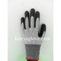 Buy cheap Cut resistance working glove with cut level 5, anti cut safety glove black color from wholesalers