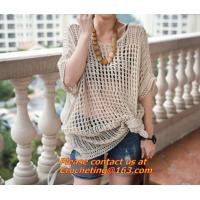 Buy cheap Summer Style Women Beach Wear in Women's Cover up Handmade Knitted Crochet Dresses from wholesalers