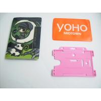 Buy cheap Retractable Rigid Plastic Pvc Badge Holder For Name Card , Silk Printing from wholesalers