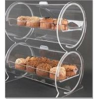 Buy cheap Double Drum Acrylic Bakery Display Case Container 18