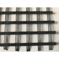 China High strength warp knitted PVC coated polyester geogrid 20/20KN, 30/30KN, 50/50KN,60/60KN, 100/100KN on sale