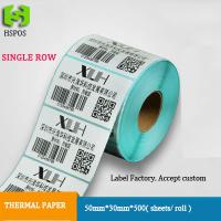 Buy cheap Thermal stickers labels 50*30mm*800 sheets printing barcode adhesive paper accept custom order from wholesalers