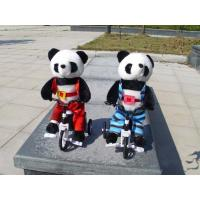 Buy cheap 100% PP Cotton Musical Plush Toys , Electronic Bicycle Animal Panda Soft Toy from wholesalers