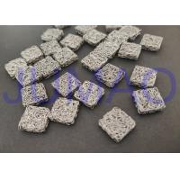 Buy cheap Square Stainless Steel Knitted Mesh 3.7 Mm Height For Shielding Cleaning Damping product