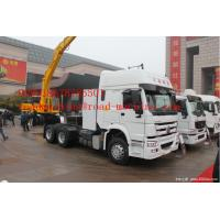Buy cheap LHD EuroII New SINOTRUK HOWO Cargo Truck Chassis 6X4 10tires  HW76 Cabin with triangle tire from wholesalers