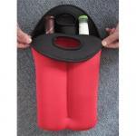 Neoprene Wine Bottle Cooler/Holder/Carrier,2-bottle Wine Cooler Bag