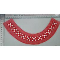 China Eco friendly Red Flower Beaded Collar Necklace Handmade Customized on sale