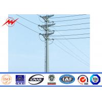Buy cheap Outdoor Galvanized Steel Transmission Line Poles 15M 15 KN 355 Mpa Yield Strength from wholesalers