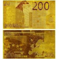 Buy cheap 200 EURO Gold Banknote Paper Money Collecting Bills from wholesalers