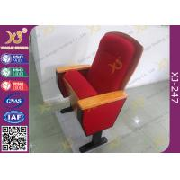 Buy cheap Sound Absorption Conference Hall Seating Chair With Soft Closing Seat Pad Noise Free from wholesalers
