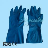 Buy cheap Bule Dip or Spray Flocklined gloves latex household from wholesalers