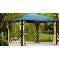 Buy cheap Alum Metal Roof Gazebo Outdoor Pavilion Garden Gazebo Sunlight Board Garden Gazebo Metal Type Pavilion Park Leisure Tent from wholesalers