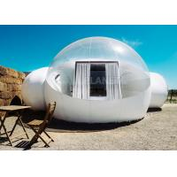 Buy cheap White Double Inflatable Bubble Camping Tent HD Printing Oxford Cloth Material from wholesalers