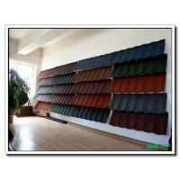Buy cheap Shingle Stone Sand Chip Coated Roof Tile Panel, Roofing Tiles Sheet with South Korea Technology from wholesalers