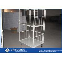 Buy cheap Warehouse Storage Steel Roll Container Wire Mesh Design Material Handling Trolley from wholesalers