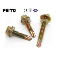 Buy cheap 5.5mm c1022 hexagon flange hex washer head self drilling tek roofing screw from wholesalers