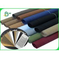 China 0.55 & 0.8mm Thick Washed Paper Width 150cm Brown & Black Color For DIY Crafts on sale