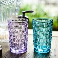 Buy cheap Tall Drinking Water Colored Whiskey Glasses / Weaving Personalized Whiskey Tumblers from wholesalers