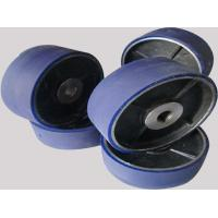 Buy cheap Aging Resistant Industrial Blue PU Polyurethane Coating Wheels / Polyurethane Wheels with aluminum from wholesalers