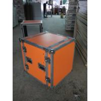 Buy cheap Orange Plywood Speaker Aluminum Tool Cases 2 In One With 4'' Strong PVC Wheels from wholesalers