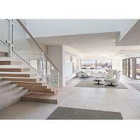 Buy cheap Modern interior floating staircase wood staircase steps indoor stairs balusters from wholesalers