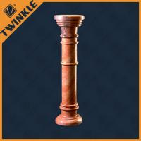 Buy cheap Custom Polished Natural Stone Column / Round Red Pillar For Building from wholesalers