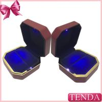 Buy cheap Unique Antique LED Lighting Leather Rubber Painting Proposal Wedding Engagement Ring Box with Lights from wholesalers