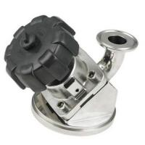 Buy cheap Aseptic Tank Bottom Tri Clamp Diaphragm Valve Manual Turning Knob Operation product