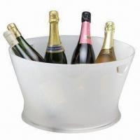 Buy cheap Double-injected Acrylic Wine Cooler, Various Colors are Available from wholesalers