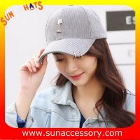 Buy cheap QF17004  Sun Accessory customized fashion baseball caps for ladies  ,caps in stock MOQ only 3 pcs from wholesalers