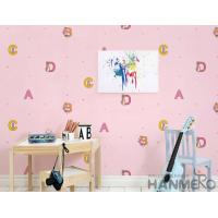 Buy cheap Modern English Letters Design Pink Color Wallpaper Wall Decor Wallcovering Wholesaler from wholesalers