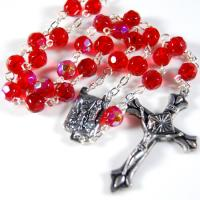 Buy cheap Faceted glass rosary from wholesalers