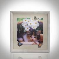 Buy cheap CMYK 3D Lenticular Pictures With MDF Frame Cat Design Decorative Printing from wholesalers