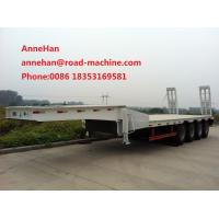 Buy cheap 70 Ton Heavy Duty 3 Axles Stonger Low Bed Truck Trailer For Machinery Transport from wholesalers