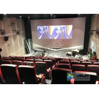 Buy cheap Synthetic Leather 4D Movie Theater With Many Special Effects And Customization Logo product