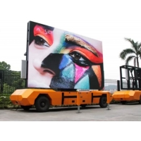 Buy cheap 5500cd/sqm Trailer Mounted LED Screen , P6 Car Advertising Screen from wholesalers