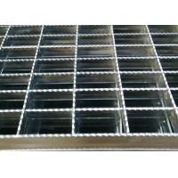 China Anti Slide Galvanized Steel Grating , Drain Covers Grates Serrated Tooth Shape on sale