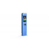 Buy cheap 21 Inch Face Recognition Machine Infrared Contactless Thermometer Kiosk With Dispenser from wholesalers